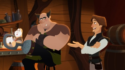 "TANGLED: THE SERIES - ""What the Hair?!"" - Rapunzel and Cassandra venture out to a wizard's cottage to try and find out what has happened to her hair. This episode of ""Tangled: The Series"" airs Friday, March 24 (7:30 - 8:00 P.M. EDT) on Disney Channel. (Disney Channel) HOOK FOOT, EUGENE"