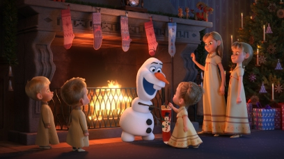 """SO THIS IS WHAT HEAT FEELS LIKE -- In Walt Disney Animation Studios' 21-minute featurette """"Olaf's Frozen Adventure,"""" Olaf's merry mission to find the best holiday traditions is told in part through the original song """"That Time of Year."""" Featuring four new original songs written by Elyssa Samsel and Kate Anderson, """"Olaf's Frozen Adventure"""" opens in front of Disney•Pixar's original feature """"Coco"""" in U.S. theaters on Nov. 22, 2017. ©2017 Disney. All Rights Reserved."""