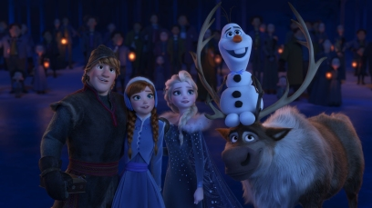 """WHEN WE'RE TOGETHER –Walt Disney Animation Studios' """"Olaf's Frozen Adventure"""" features four all-new original songs, including """"When We're Together""""—a song in which Kristoff, Anna, Elsa and Olaf realize that being together with loved ones is the best part of the holiday season. Featuring the voices of Jonathan Groff, Kristen Bell, Idina Menzel and Josh Gad, """"Olaf's Frozen Adventure"""" opens in front of Disney•Pixar's original feature """"Coco"""" in U.S. theaters on Nov. 22, 2017. ©2017 Disney. All Rights Reserved."""