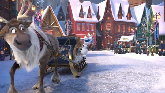 "ALL-NEW CHAPTER FOR ""FROZEN"" CHARACTERS -- Olaf (voice of Josh Gad) teams up with Sven on a mission in Walt Disney Animation Studios' holiday featurette ""Olaf's Frozen Adventure,"" which welcomes back to the big screen Anna (voice of Kristen Bell), Elsa (voice of Idina Menzel) and Kristoff (voice of Jonathan Groff). Directed by Emmy®-winning filmmakers Kevin Deters and Stevie Wermers-Skelton (""Prep & Landing""), produced by Oscar® winner Roy Conli (""Big Hero 6""), and featuring original songs by Elyssa Samsel and Kate Anderson, ""Olaf's Frozen Adventure"" opens in front of Disney•Pixar's original feature ""Coco"" in U.S. theaters on Nov. 22, 2017. ©2017 Disney. All Rights Reserved."