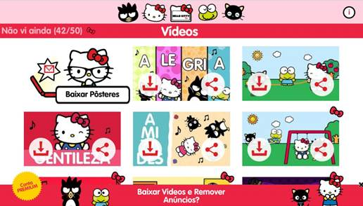 Hello kitty tv novidade na google play e app store stopboris