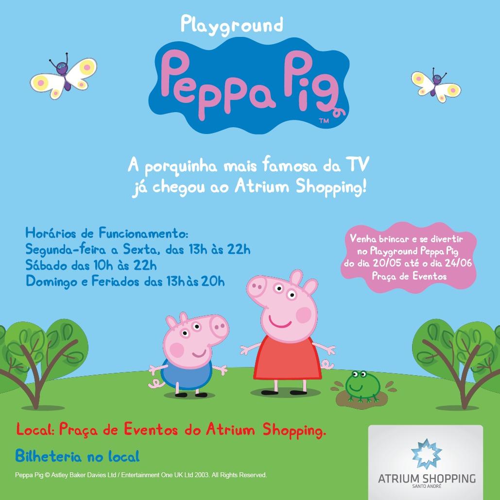 PEPPA pig no atrium shopping