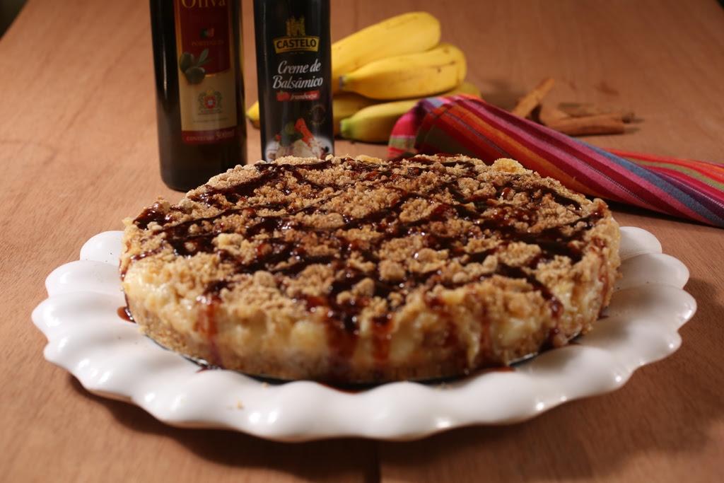 Torta quente integral de banana