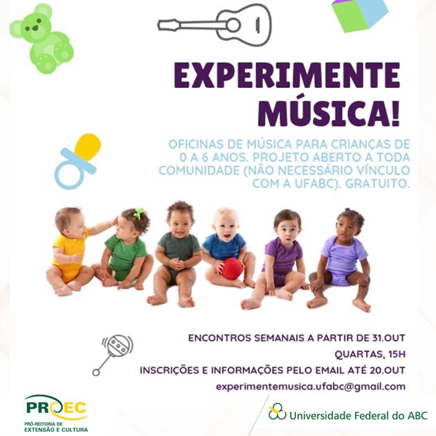 Experimente Música: Oficina de Música para Bebês UFABC