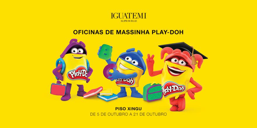 Iguatemi Alphaville recebe a oficina infantil de massinhas da Play-Doh