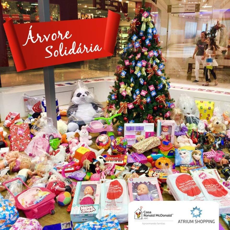 Atrium Shopping traz a Árvore Solidária neste Natal