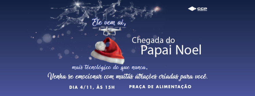 Papai Noel chega neste domingo no Grand Plaza Shopping