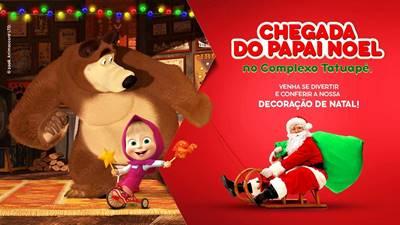'Masha e o Urso' inspiram decoração de Natal do Complexo Tatuapé