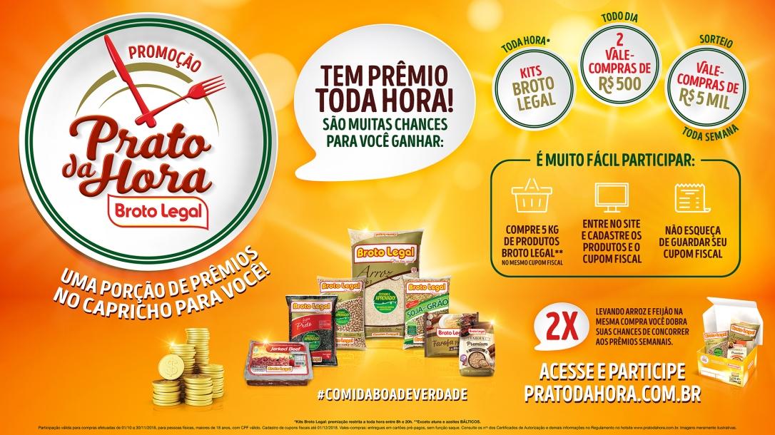 """Promoção """"Prato da Hora"""" da Broto Legal"""