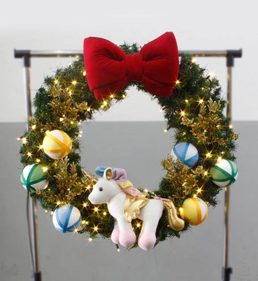 árvore de natal de unicórnio decoração