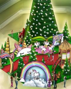 decoração de natal unicórnios
